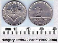 HUNGARY 2 FORINT AUNC COIN # 2140