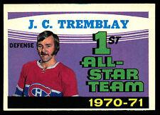 1971 72 OPC O PEE CHEE #252 J C TREMBLAY AS EX-NM MONTREAL CANADIENS HOCKEY CARD
