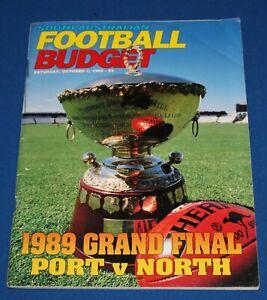 1989 Grand Final South Australian Football Budget Port Adelaide v North SANFL