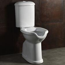 Wc mono-blocco in ceramica aperto con cassetta scarico a muro per disabili