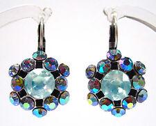 SoHo® Ohrhänger vintage Strass Kristalle light sapphire blau handgemachtes Glas