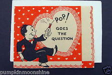 # I 20- Vintage 1930 Unused Valentine Greeting Card Man Popping the Question