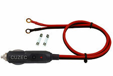 5CUZEC Heavy-Duty 15A Male Plug Cigarette Lighter Adapter Power Extension Cord