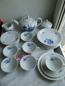 Komplettes Teeservice für 6 Personen