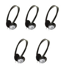 5 Pack Panasonic RP-HT21 Lightweight Headphones with XBS