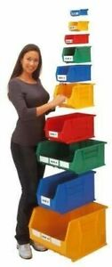 Linbins All Sizes and Colours - lin bins open fronted Storage Box Picking Bin