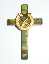 Hunters Hunting Wood Cross Camouflage Khaki Memorial Funeral Rifle Gun Shot Hunt
