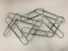 Vtg Signed Curtis Jere Pop Art Paper Clip Metal Wall Sculpture Modernist MCM