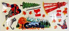 Canada Maple Leaf Hockey Stamping Station Clear Stickers