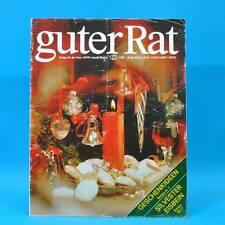 Guter Rat 4-1984 Verlag für die Frau DDR Eisbein Weihnachten Kochtöpfe Plaste B