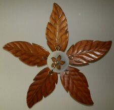 "New listing Hampton Bay Antigua 56"" Ceiling Fan Brass Finish with Light Kit palm leaf blades"