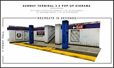 Extreme Sets Subway Terminal 3.0 Pop-Up DIorama Display 1/12 Scale Action Figure