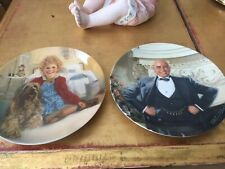 Knowles Annie Collector Plates 1 & 2 1982 Annie & Sandy and Daddy Warbucks