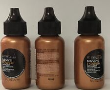 3 Maybelline Mineral Power Bronzer Makeup BOOSTER WITH MIICRO MINERALS NEW 1 oz
