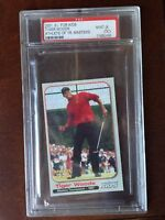 Tiger Woods Masters 2001 S.I. for Kids Athlete of the Year Card PSA 9 Mint RC
