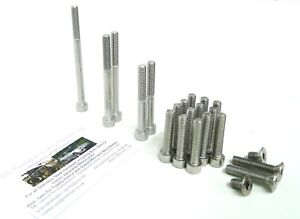 Honda CB500/4 / CB500 Four  - Engine Covers Bolts Set - Stainless Steel