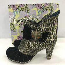 Irregular Choice Shoes Ladies UK 6 EU 39 Gold Black Block Heel Formal 311637