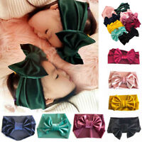 1Pcs Cute Baby Toddler Infant Kids Bowknot Headband Stretch Hairband Headwear