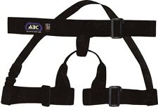 Black Abc Adjustable Rappelling Guide Body Harness