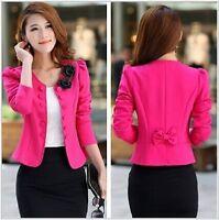 Fashion Women Lady Tops Slim Suit OL Blazer Short Coat Jacket SZ:S-3XL YF076