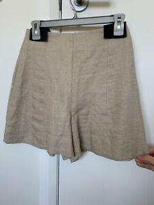 Country Road Flaxseed Linen Shorts Size 6 NWOT
