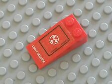 LEGO Red Slope 18 4x2 LIGHT SOURCE Sticker Ref 30363pb011L 7701stk01 Set 7701