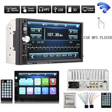 """7"""" Bluetooth Touchscreen Double 2 Din In dash Car Stereo Radio Mp3 MP5 AL"""