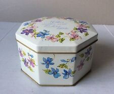 Vintage 'Mothers Day...1982' Octagonal Beautiful Flowers Container Avon England