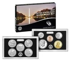 2017 S U.S. Mint 90% Silver Proof set 10 coins with Native American & Quarters