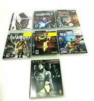 Lot Of 7 PlayStation 3 Games - Infamous 1 & 2 , UFC 2009, Resident Evil ,PS3 CIB