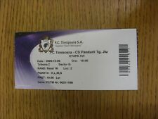 06/12/2009 Ticket: FC Timisoara v CS Pandurii Tg.Jiu (light creasing). Any fault