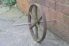 Vintage old iron wheelbarrow trolley cart wagon wheel  / 30 cm - FREE POSTAGE