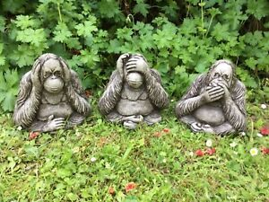 Three wise monkeys,Stone Garden  ornament, Indoor/Outdoor