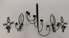 Matching Set of Wall Candle Holders - Black - Wall Feature
