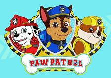 Paw Patrol Poster Chase Marshall Rubble A4 260gsm
