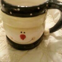 Certified International Jill Ankrom Snowman Mug New Never Used 4 inches tall