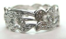 Antique Art Deco Vintage Wedding Eternity Band Rg Sz 6 UK-L1/2 EGL USA Platinum