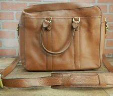 COLE HAAN Attache Saunders Case Brown LAPTOP BAG Leather