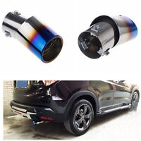 1PCS 85x63mm Bent Stainless Steel Colorful SUV/Car Round Exhaust Pipe Tail