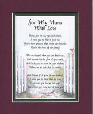 #30 Gift Poem Present For A Nana Grandmother Grandma Birthday Gift For Nana