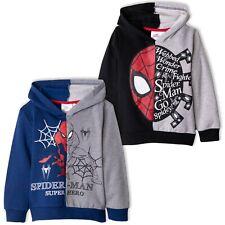 Spiderman Marvel Boys Warm Hoodie Hooded Top Jumper Jacket Sweatshirt 2-8 Years