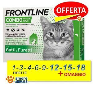 Frontline Combo Gatto 1 / 3 / 4 / 6 / 9 / 12 / 15 / 18 pipette Antiparassitario