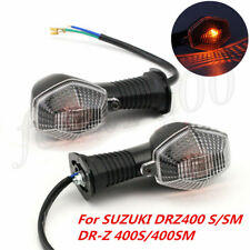 2x Clear Lens Turn Signal Indicator Light For SUZUKI DRZ400 S/SM DR-Z 400S/400SM