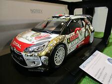 CITROEN DS3 WRC RALLYE MONTE CARLO de 2015 LOEB au 1/18 d NOREV 181538 miniature