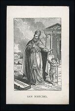 santino litografía 1800 S.NARCISO V. M DE GERONA
