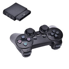 Wireless 2.4GHZ Shock-wave Controller For Sony PlayStation2 PS2 Black ec