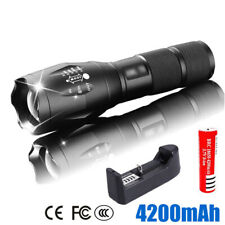 LED Cree Torch Rechargeable Flashlight Police Tactical Zoom Camping Work Lamps
