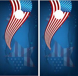4 July Celebrations Cornhole Board Wrap Skin Decals Vinyl Sticker America CGJ3