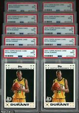 Investor Lot of (10) 2007 Topps Basketball #2 Kevin Durant RC Rookie PSA 9 - #3
