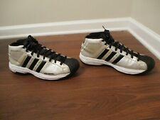 Classic 2003 Used Worn Size 12 Adidas Pro Model Shoes Ivory, White, Black